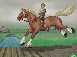 Link and Epona by Luminanza