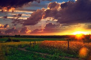 sunset french country by klefer