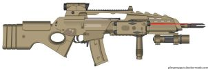 XG36-M8 A.A.R. Advanced Assault Rifle by Lord-DracoDraconis