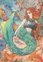 Mermaid Postcard by spiderlady