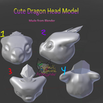 Cute dragon head model by CynderAngelDWOship14