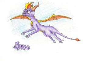 Flying Spyro again by IcelectricSpyro