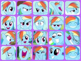 The Best of Rainbow Dash's Face by crazyninjacupcake