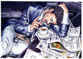 Trashed- Watercolor by Chicken-Priestess