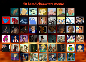 50 Characters and Shows I Hate by J-Cat
