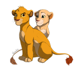Simba and Nala by RepaintLife