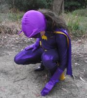 66 Batgirl Cosplay - Investigating in the Woods by ozbattlechick