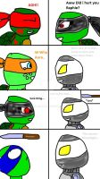 The turtles vs Aura 4 by Allison1y