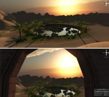 Night at the Ottertorium: Desert Environment by hollywood714