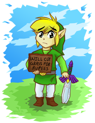 ''Will Cut Grass for Rupees'' by TheGreenDragonGirl