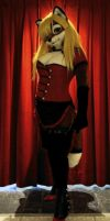 Lisa in Steampunk/cabaret outift by Aoi-the-kitsune