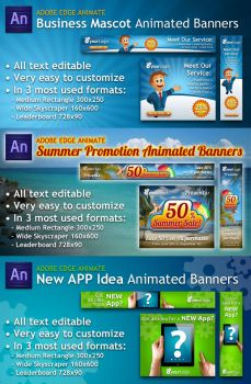 Adobe Edge Animated Banners in HTML5 by PVillage
