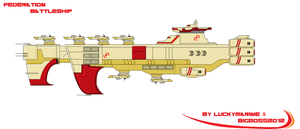 Federation Battleship Commission (Pixel Art) by Luckymarine577
