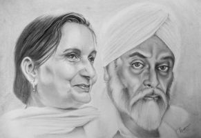 Sikh Couple No.2. by aRtUSSELL