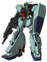 RGZ-91 Re-GZ (mobile suit mode) by unoservix