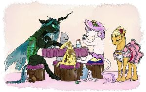 ''Tea Party'' by Iguanodragon