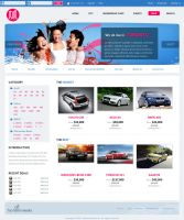 Blue + pink website by denghao