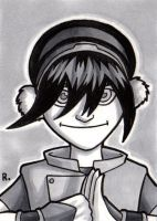 Toph Sketchcard by TheRigger