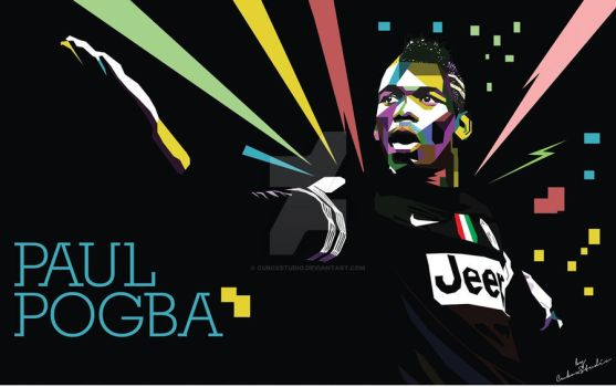 Pogba in WPAP by cuboxstudio
