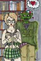 Student Monster In Love by MicheleWitchipoo