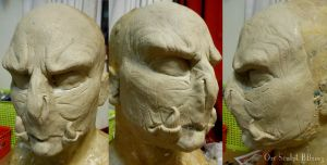 Orc LARP mask... by Magpieb0nes