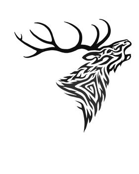 Roaring Stag Tribal by Hareguizer