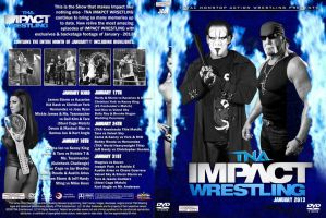 TNA Impact Wrestling 2013 DVD Spine Set January by Chirantha