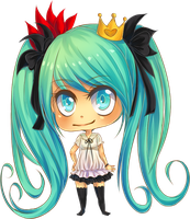 Chibi Miku - World is mine by Wosda