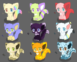 Adoptables Sheet 1 -CLOSED- by Vanilliana