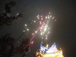 Wedding fireworks 2 by Laura-in-china