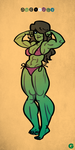 Sketch #14 (She-Hulk) by G-for-Galdelico