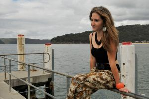 Emma L - black top on jetty 2 by wildplaces
