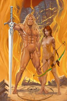 Xandr and Thelana Print by Frans Mensink by AGEOFAENYA
