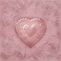 Mother Of Pearl Valentine Painting by chamirra