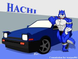 COM : Hachi with his car by whiteguardian