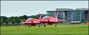 Red Arrows Take off 1 / FAS 2012 by Somebody-Somewhere
