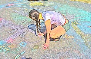 The Chalk Drawing Artist by papimaria