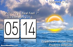 Lg Based Real Weather With Clock by Slavoo123