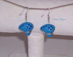 Ocarina of Time Earrings ZELDA SterlingSilverHooks by TorresDesigns
