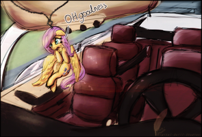 Fluttershy Doesn't Like Sunday Drives by Digital-Quill-Studio
