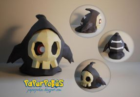 Pokemon Papercraft - Duskull by PaperBuff