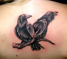 Raven 3 by DarkSunTattoo
