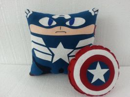 Handmade Captain America The Winter Soldier Pillow by RbitencourtUSA