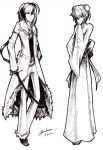 Pokemon Gijinka Pen Sketches- Mega Absol/Froslass by LyricaDreams