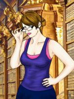 Sexy Librarian Kelly by doll-fin-chick
