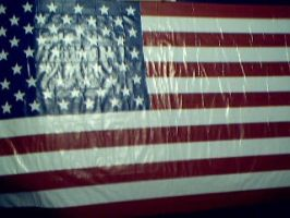 Duct tape American flag by ducttapetom