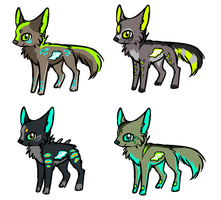 Acid-Wolf Adoptables CLOSED by Sorasongz