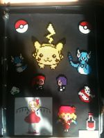 Hama/Perler bead Pokemon and Flandre by BarrowmanFan