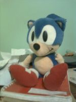 Sonic Plush from 90's by 04StartyOnlineBC88
