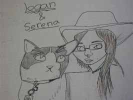 friend and cat by millie369